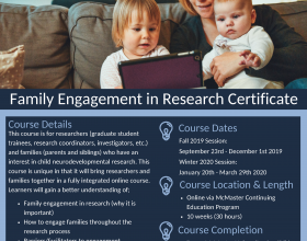Fall 2019/Winter 2020 Family Engagement in Research Certificate Registration